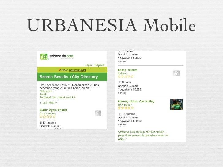URBANESIA Mobile
