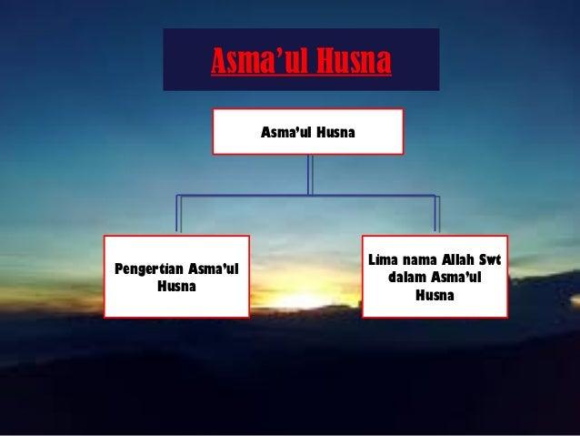Asma'ul Husna Asma'ul Husna Pengertian Asma'ul Husna Lima nama Allah Swt dalam Asma'ul Husna