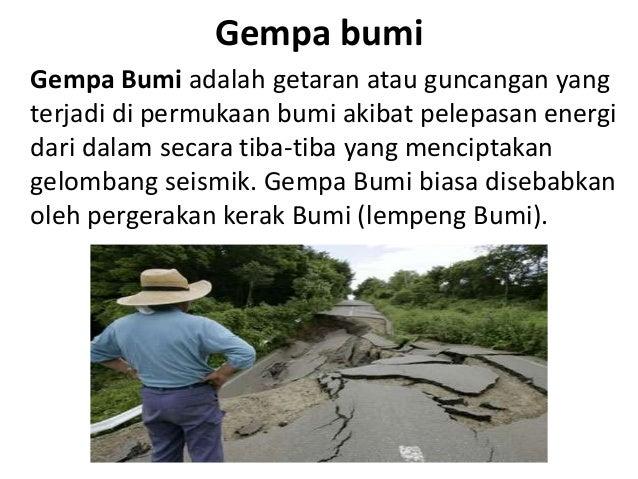 Teks Eksplanasi B Indo Gempa Bumi