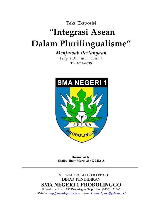 Teks Eksposisi - Integrasi ASEAN dalam Plurilingualisme