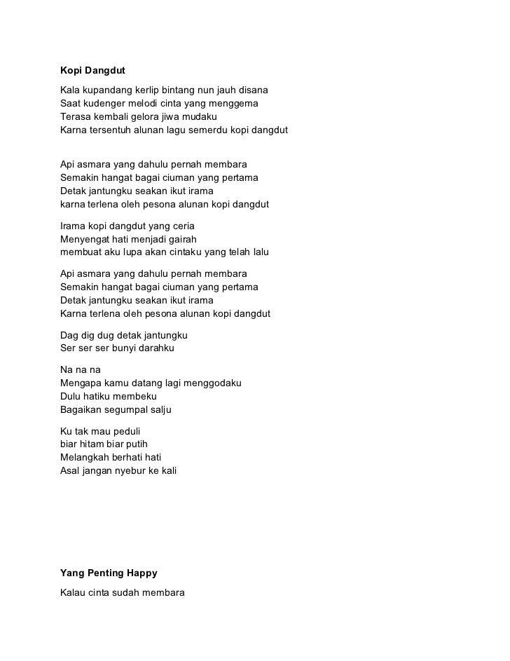 Teks lagu