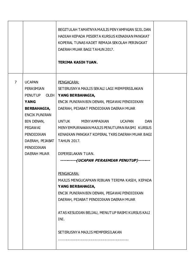 Teks Pengacara Majlis