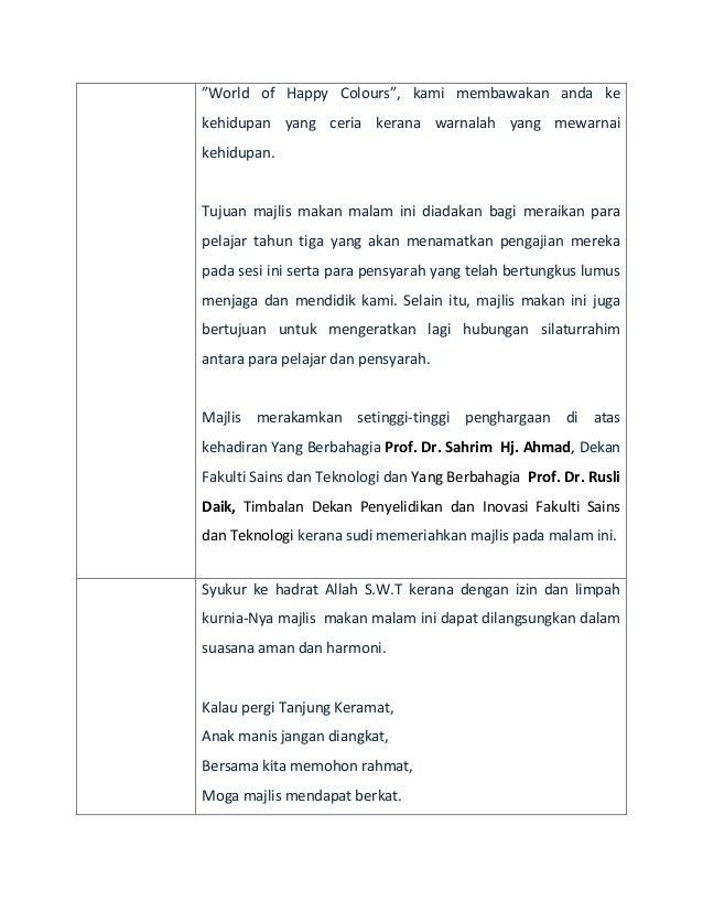 Teks Pengacara Majlis Formal