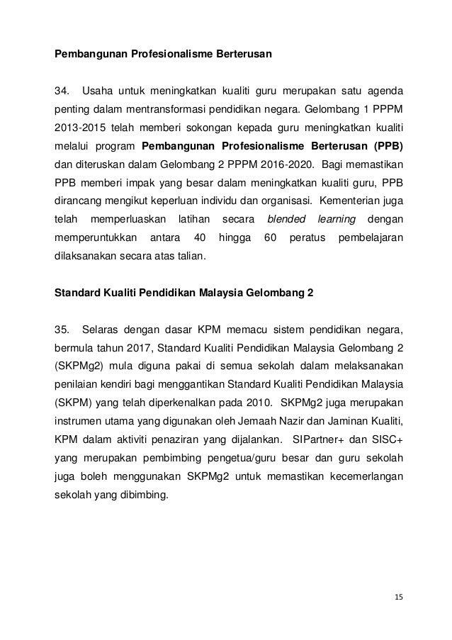 Teks Perutusan Hari Guru Tahun 2017 Ketua Pengarah Pelajaran Malaysia