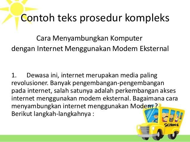 Teks prosedur kompleks-bahasa indonesia