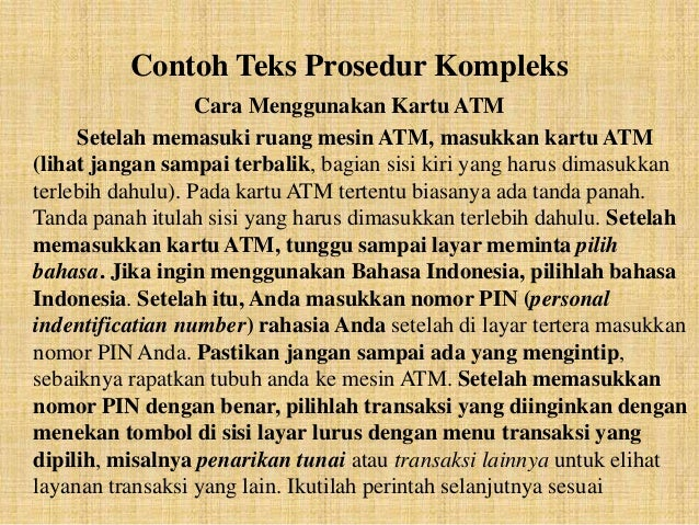 Image Result For Contoh Teks Prosedura