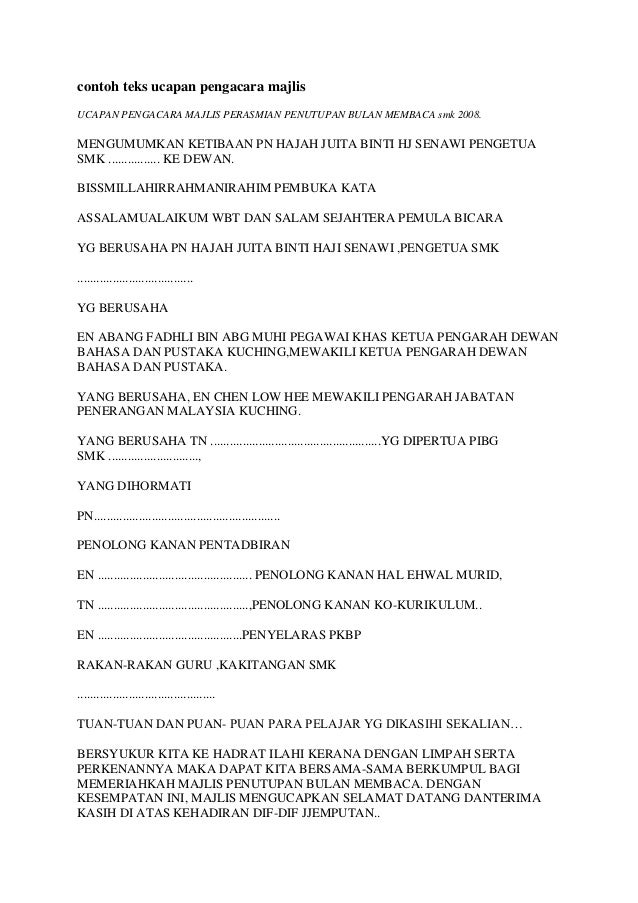 contoh teks emcee essay Emcee script for language month – opening ceremony no  13 there will be:  sahibba competition essay writing competition  teks ucapan in english.
