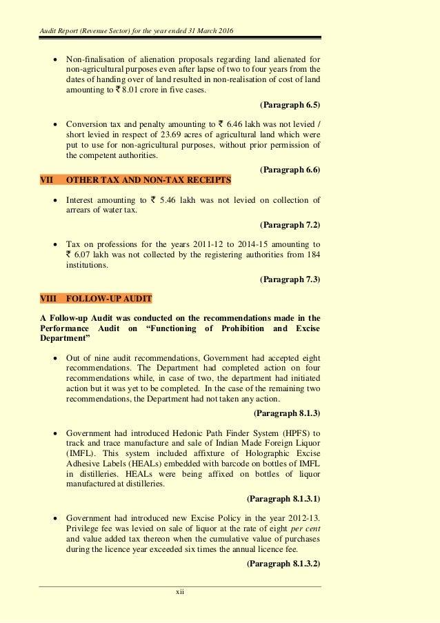 CAG report on Telangana revenue department