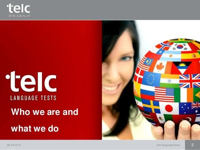 Deutsch 1 telc language start tests German Language