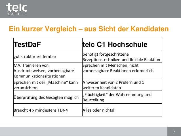telc deutsch c1 hochschule prfungsformat und vorbereitung - Testdaf Prufung Beispiel Pdf