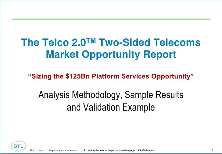 """The Telco 2.0TM Two-Sided Telecoms Market Opportunity Report""""Sizing the $125Bn Platform Services Opportunity""""<br />Analysi..."""