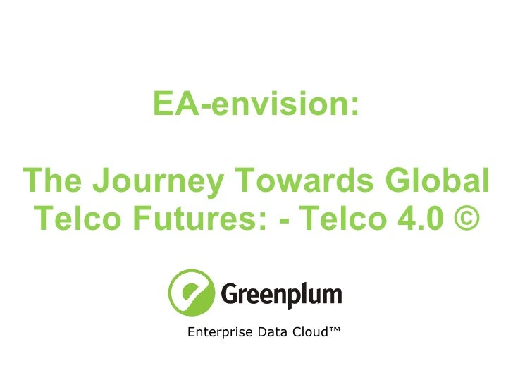 EA-envision: The Journey Towards Global Telco Futures: - Telco 4.0 © Enterprise Data Cloud™