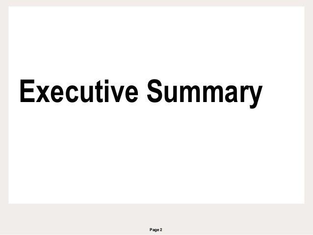 Page 2 Executive Summary