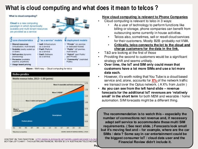 Page 21 What is cloud computing and what does it mean to telcos ? CONTENT ON THIS PAGE FROM : HTTP://WWW.SLIDESHARE.NET/MO...