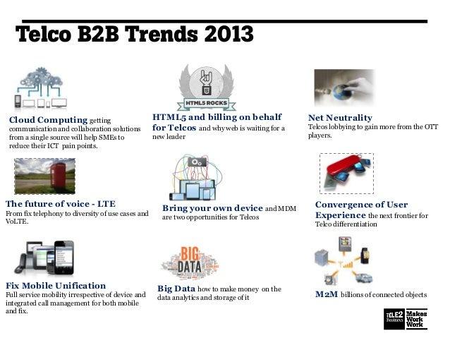 Telecom Trends on B2B - 2013 Slide 2