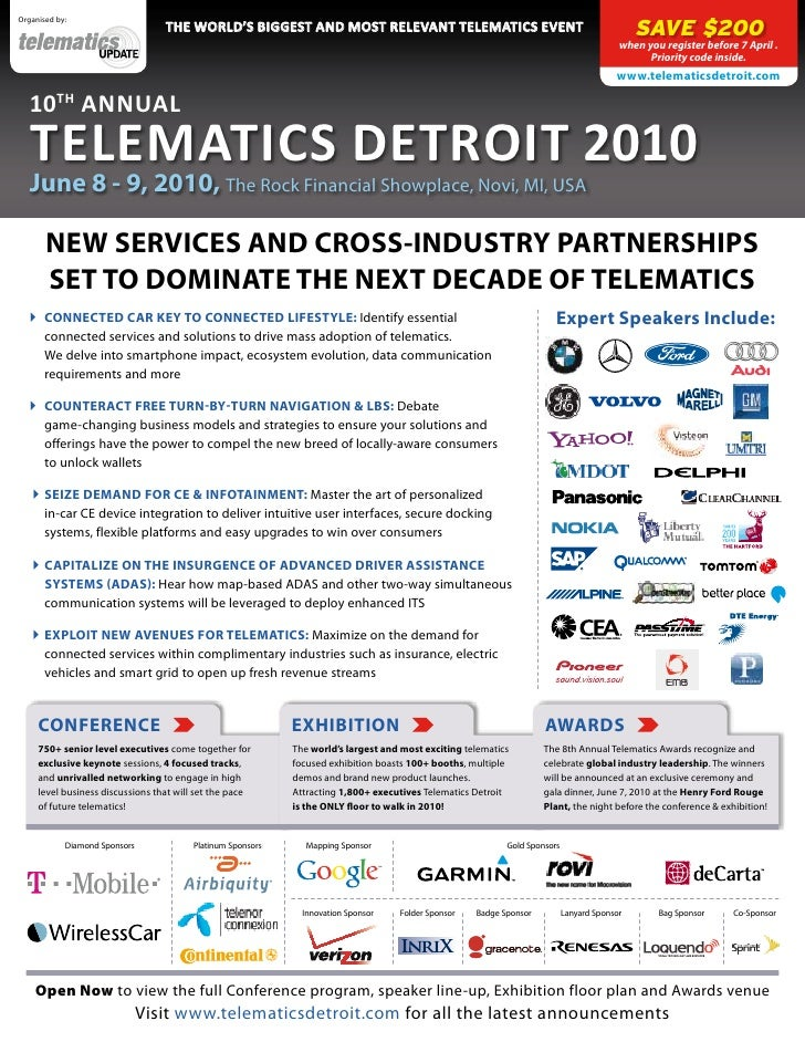 Organised by:                                   the WorlD's Biggest anD most relevant telematics event                    ...