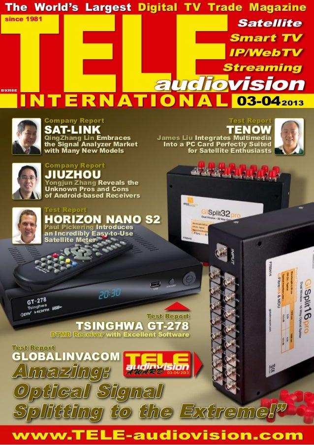03-04/2013TELEsince 1981The World's Largest Digital TV Trade Magazinewww.TELE-audiovision.comCompany ReportJIUZHOUYongjun ...