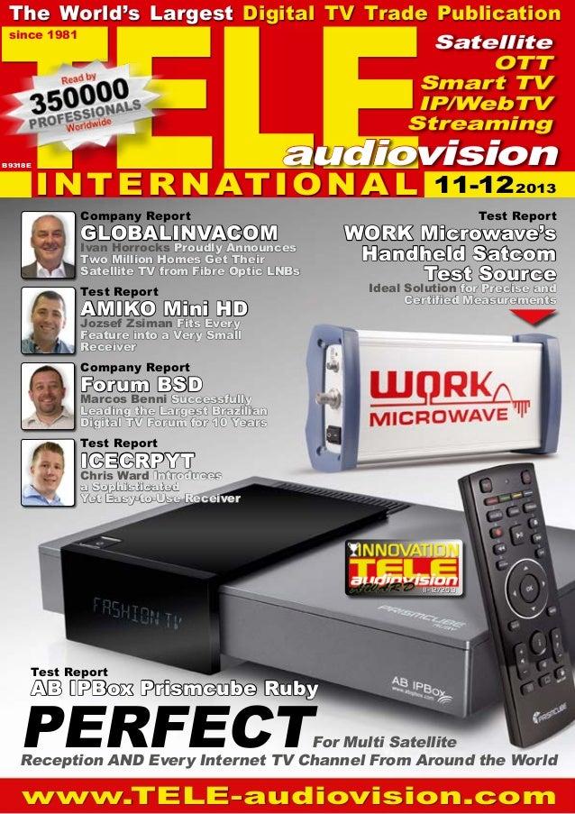 TELE  The World's Largest Digital TV Trade Publication since 1981 Satellite OTT Smart TV IP/WebTV Streaming  B 9318 E  aud...
