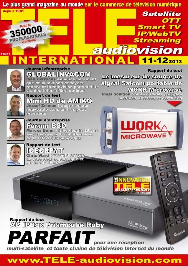 TELE  Le plus grand magazine au monde sur le commerce de télévision numérique depuis 1981 Satellite OTT Smart TV IP/WebTV ...