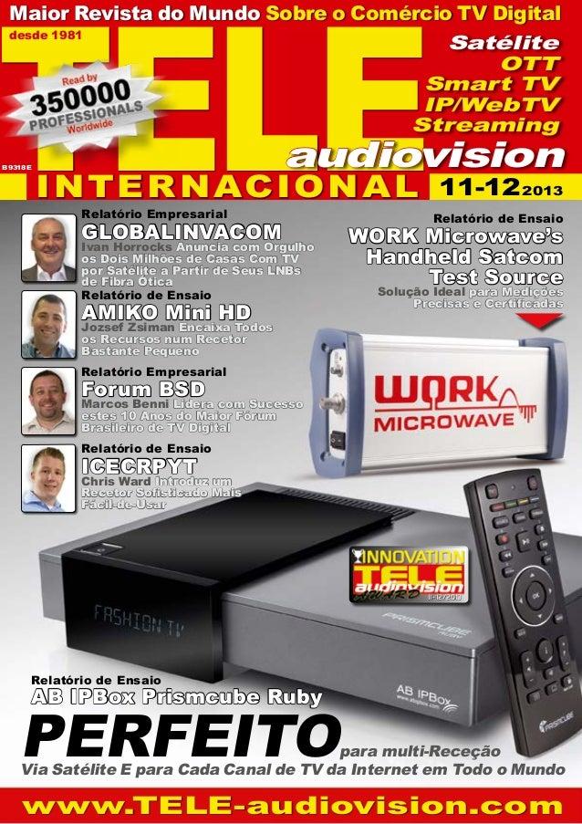 TELE  Maior Revista do Mundo Sobre o Comércio TV Digital desde 1981 Satélite OTT Smart TV IP/WebTV Streaming  B 9318 E  au...