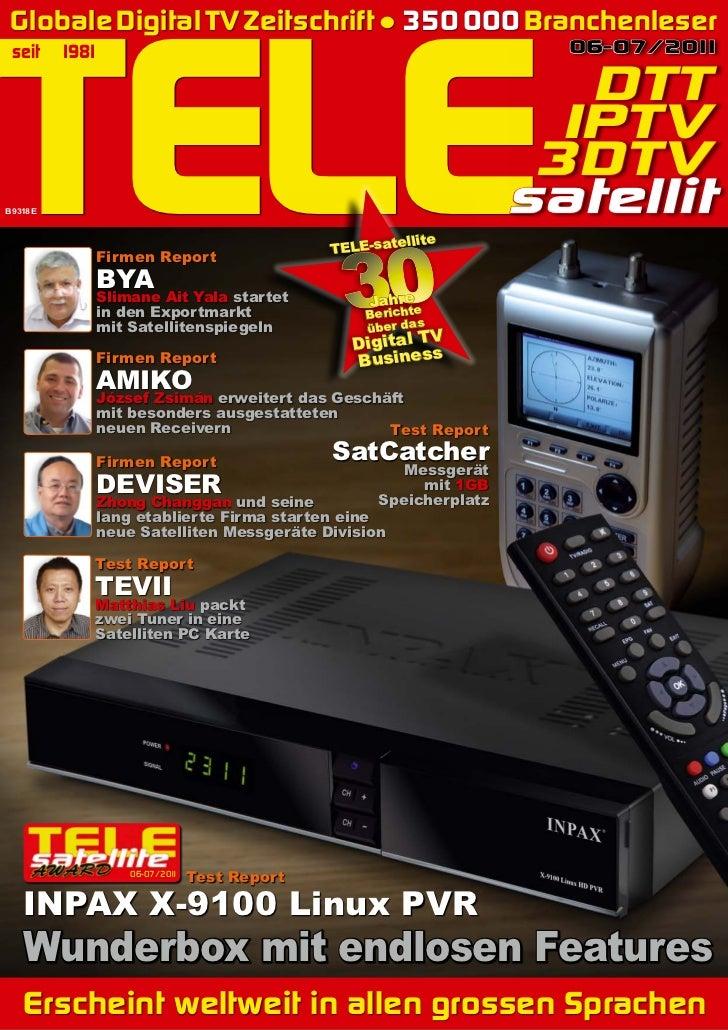 TELE Globale Digital TV Zeitschrift ● 350 000 Branchenleser seit      1981                                                ...