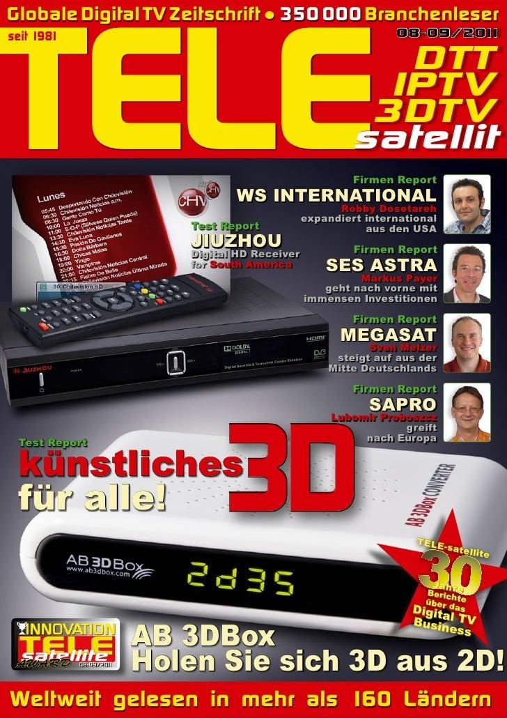 TELEGlobale Digital TV Zeitschrift ● 350 000 Branchenleserseit 1981                                                       ...