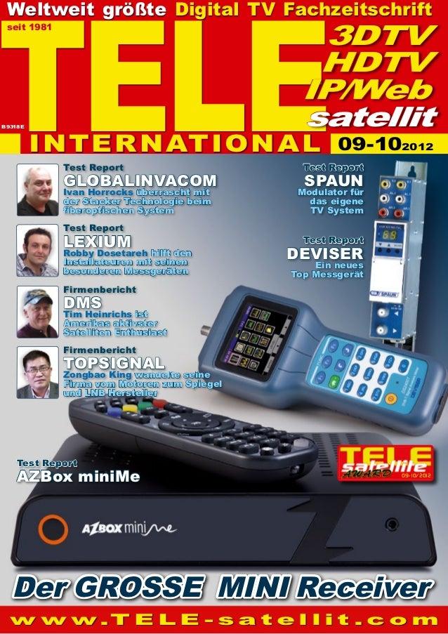TELE  Weltweit größte Digital TV Fachzeitschrift  seit 1981                                                3DTV           ...