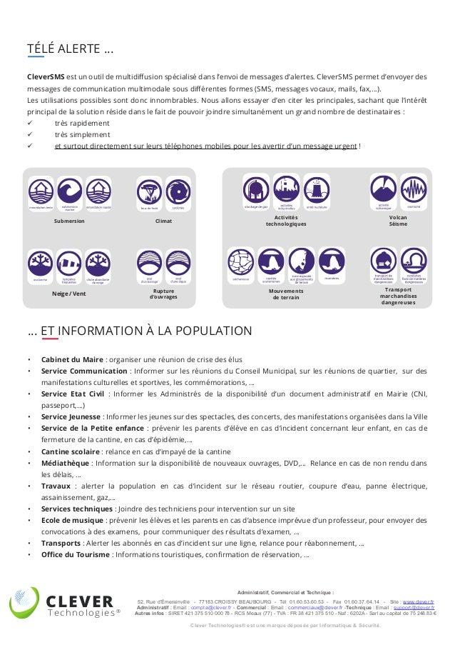 CLEVER Technologies® Administratif, Commercial et Technique : 52, Rue d'Émerainville - 77183 CROISSY BEAUBOURG - Tél 01.60...