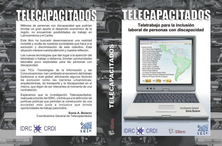 TELECAPACITADOSTeletrabajo para la inclusión laboral   de personas con discapacidad