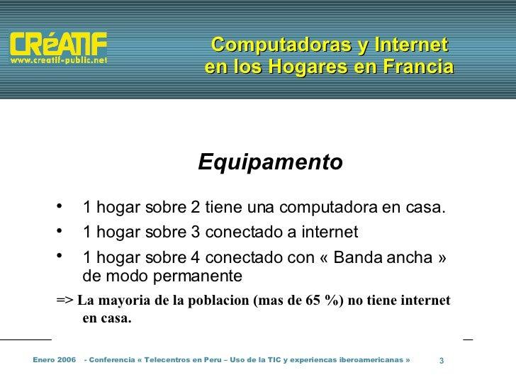 Telecentros y cabinas de Internet en Francia Slide 3