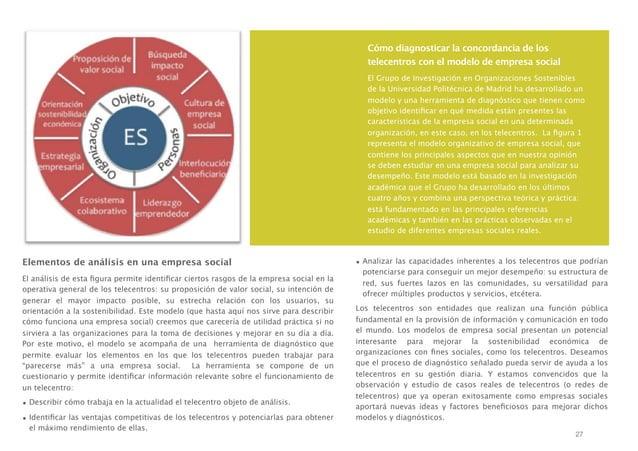 Cómo diagnosticar la concordancia de los telecentros con el modelo de empresa social El Grupo de Investigación en Organiza...