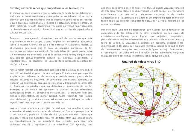 Estrategias: hacia redes que empoderan a los telecentros Si somos un poco exigentes con la evidencia (y desde luego deberí...
