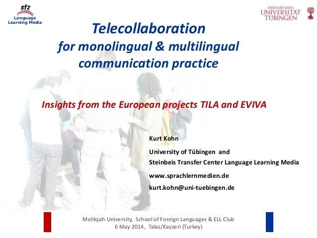 Language Learning Media Melikşah University,SchoolofForeignLanguages&ELLClub 6May2014,Talas/Kayseri(Turkey) ...