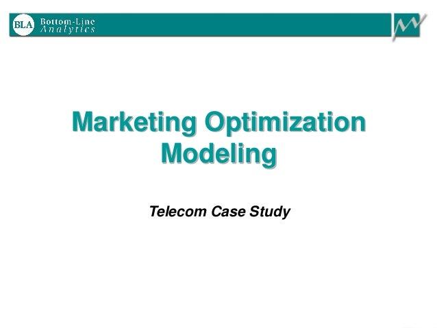 Marketing Optimization Modeling Telecom Case Study