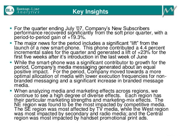Key Insights  For the quarter ending July '07, Company's New Subscribers performance recovered significantly from the sof...