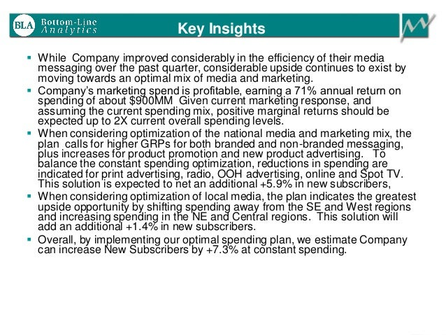 Key Insights  While Company improved considerably in the efficiency of their media messaging over the past quarter, consi...