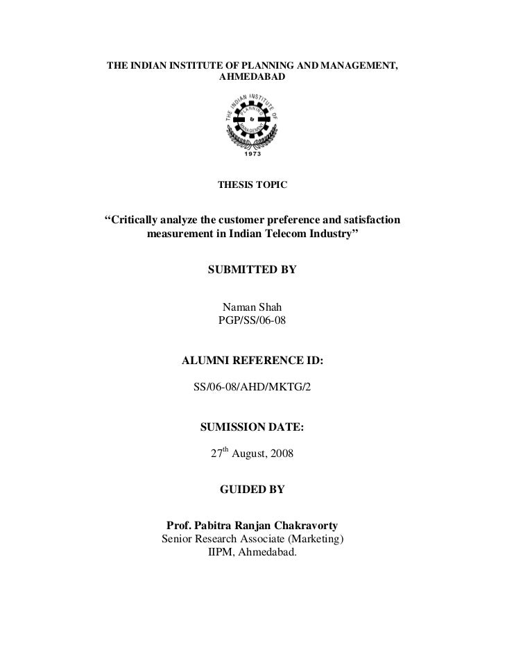 thesis on telecommunication industry