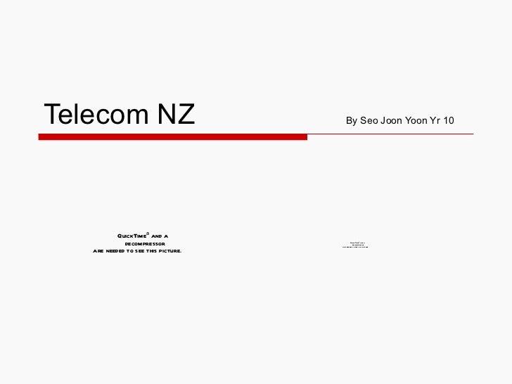 Telecom NZ  By Seo Joon Yoon Yr 10