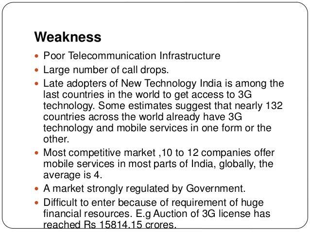 Weakness of airtel companies