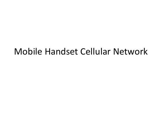 Mobile Handset Cellular Network