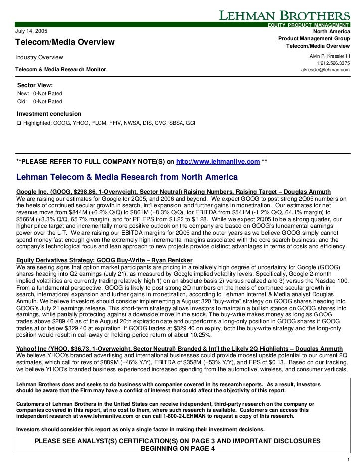 EQUITY PRODUCT MANAGEMENTJuly 14, 2005                                                                                    ...