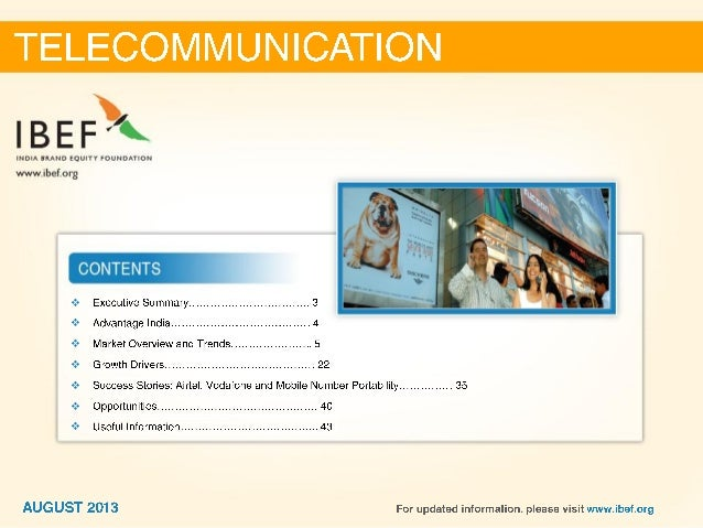 India :Telecommunication Sector Report_August 2013 Slide 2