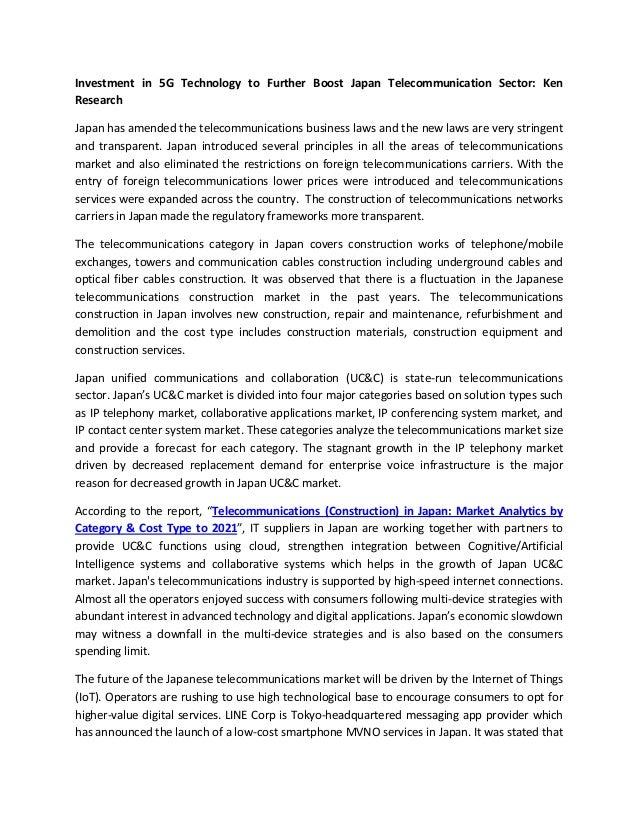 Telecommunications (construction) in japan market analytics