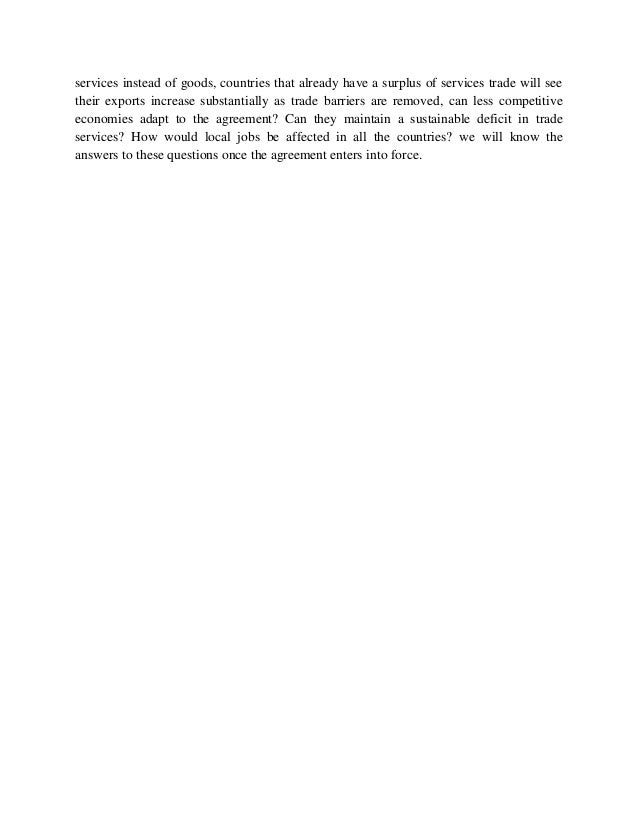 Telecommunications Policy Trade In Services Agreement Telecom Annex
