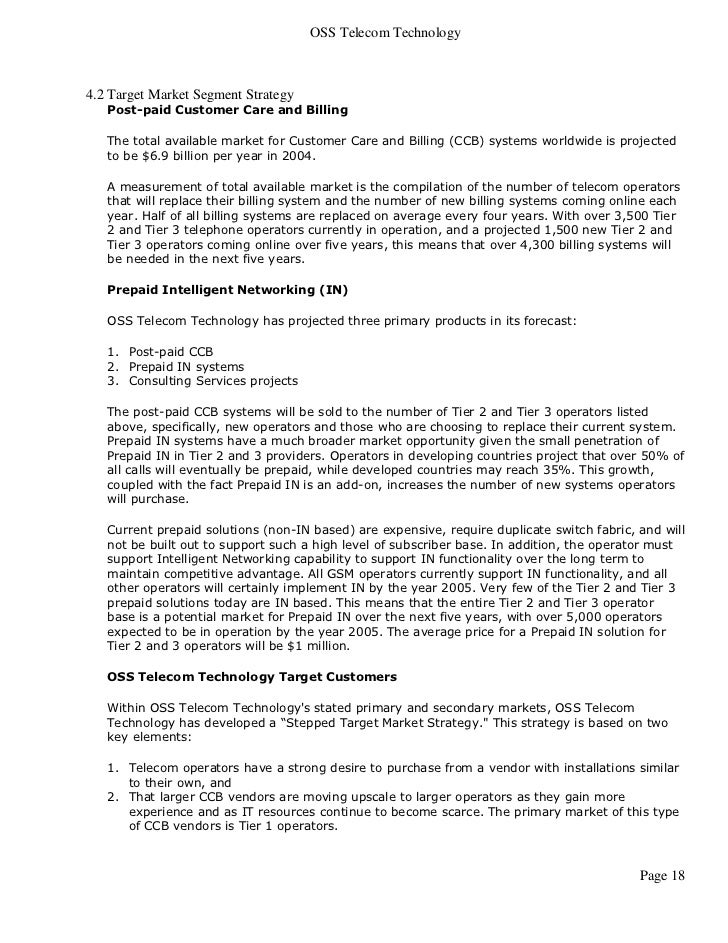 Telecommunications products business plan fandeluxe Image collections
