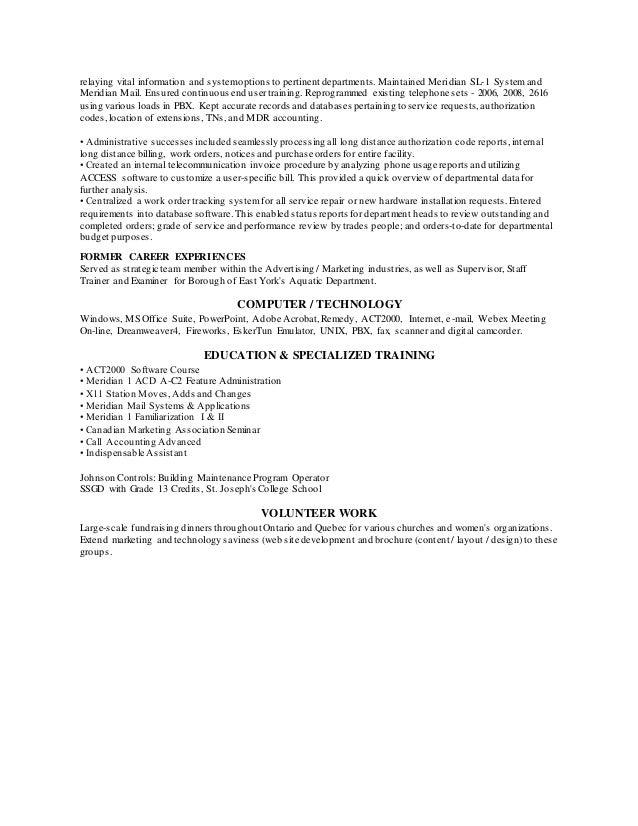 Telecommunications Sales Cv Template