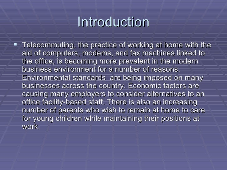 Telecommuting 8 Slide 3