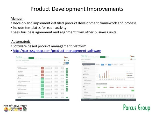 Product Development Improvements Manual: • Develop and implement detailed product development framework and process • Incl...