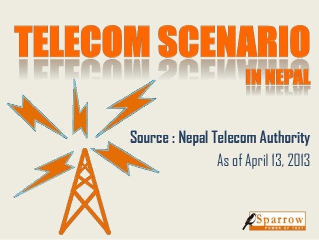 Source : Nepal Telecom AuthorityAs of April 13, 2013
