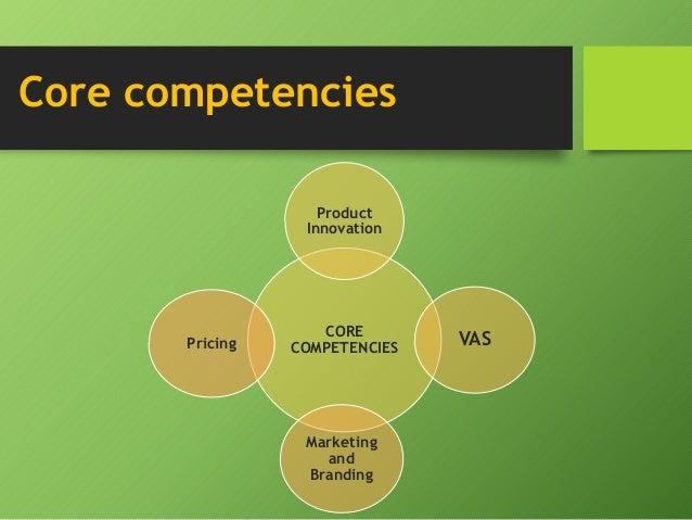 Vodafone core competencies